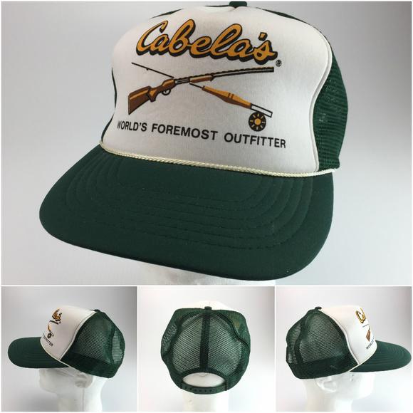 Cabela s Other - Vintage Cabela s snapback advertising trucker hat 6a4fcee44ed6